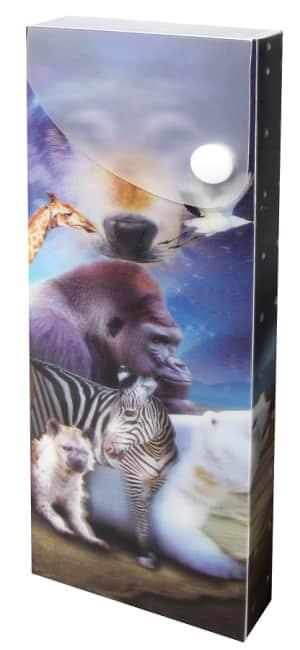 plastový penál, motiv divoká zvířata