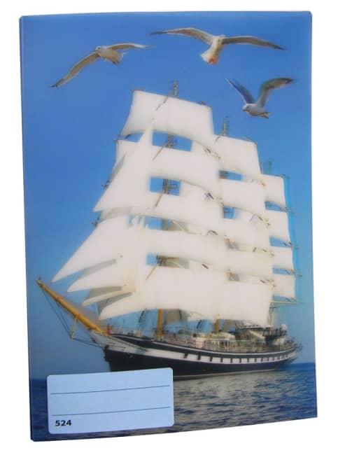 sešit 524 s 3D motivem, A5, 20 listů,linkovaný, motiv lodě