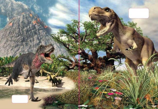 sešit 544 s 3D motivem,  A5, 40 listů,linkovaný, motiv dinosauři