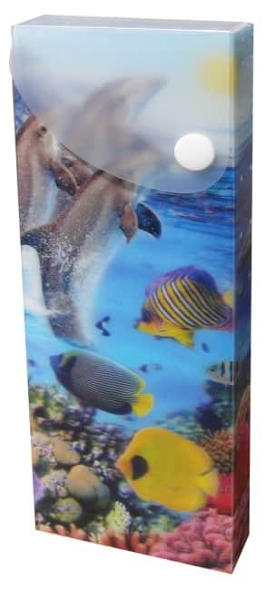 plastový penál, motiv moře