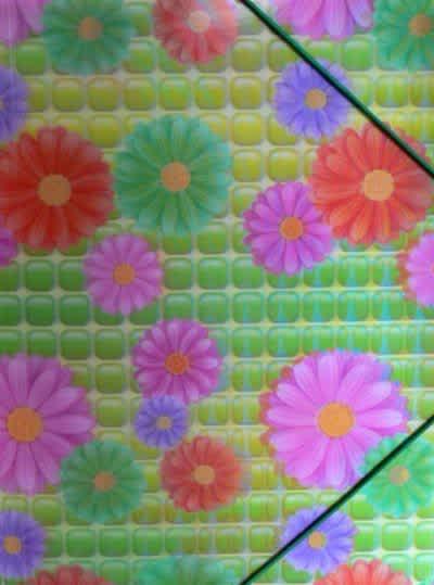 Desky na spisy/výkresy s gumou, motiv květy,3D efekt