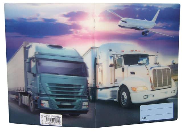 sešit 544 s 3D motivem, A5, 40 listů,linkovaný, motiv kamion