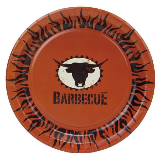 Párty talíř Barbecue, průměr 23cm, v balení 10ks