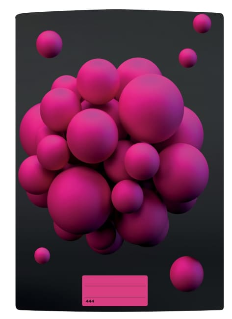 sešit 444 s 3D motivem, A4, 40 listů,linkovaný, motiv atomy