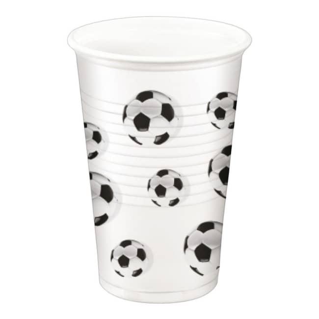 Párty kelímek Fotbal,objem 0,2 L, v balení 10ks