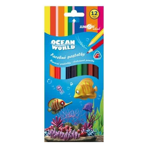 Pastelky Ocean Wolrd trojhranné 12ks