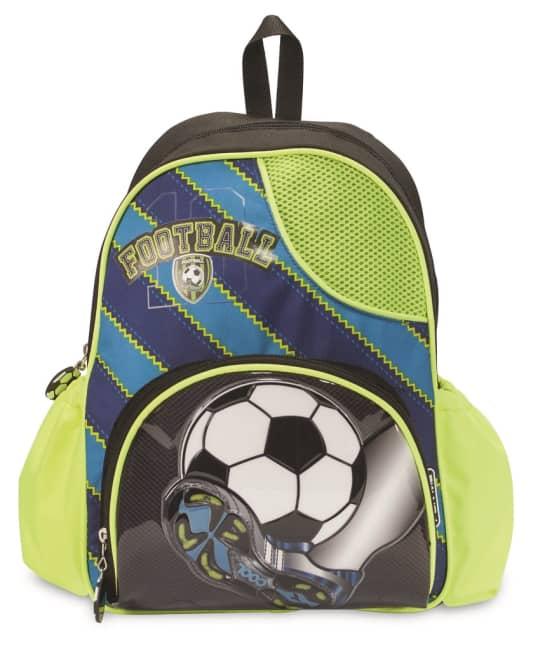 dětský batůžek FOR ME -černo,zeleno,modrý-FOTBAL