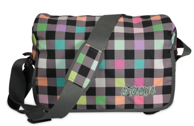 taška EXTREM4ME šedá - multicolor kostky