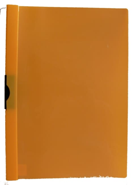 Desky se sponou žlutooranžové