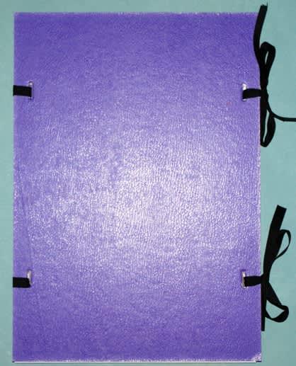 Desky s tkanicí, fialové, formát A4