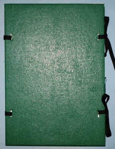 Desky s tkanicí, zelené, formát A4