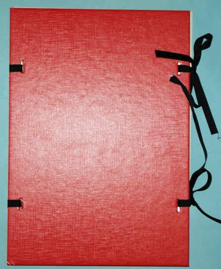 Desky s tkanicí, červené, formát A4