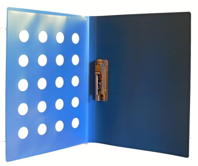 Desky z PP s rychlosvorkou, A4, modrá