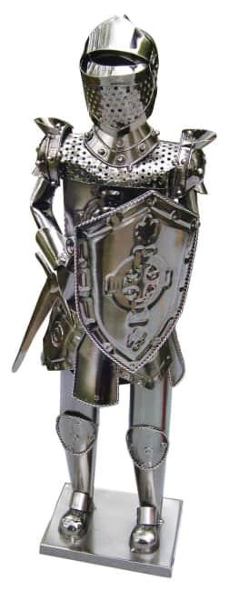 Kovový stojan na víno, motiv rytíř s mečem (vel. 60cm)