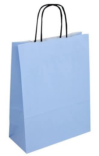 Papírová taška mořská modř 24x11x31 kroucené ucho  Toptwist