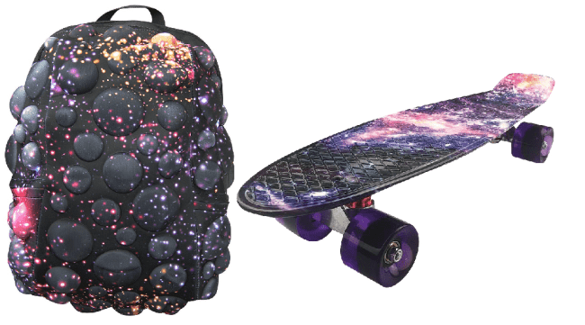 Batoh Bubble Full galaxie + Pennyboard Galaxy