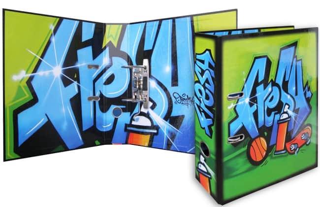 Designový pákový pořadač A4 7cm karton motiv  Graffiti (FRESH)