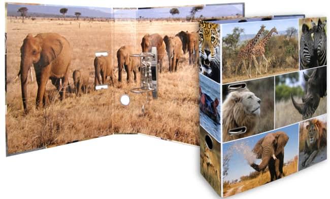Designový pákový pořadač A4 7cm karton motiv Animals - Afrika