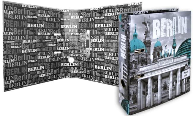 Designový pákový pořadač A4 7cm karton motiv Berlin