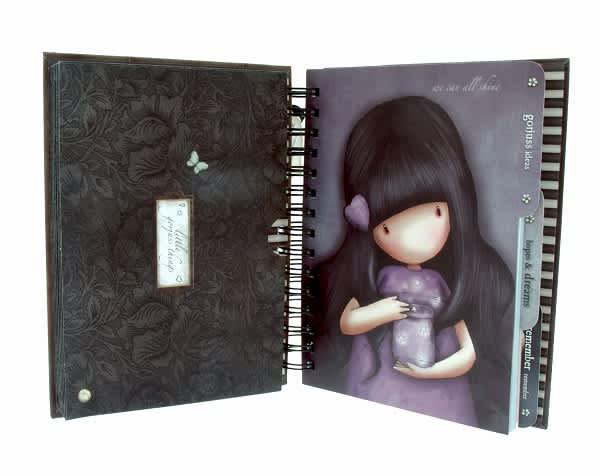 Kroužkový zápisník Santoro London - Ruby, 21 x 18 x 3 cm