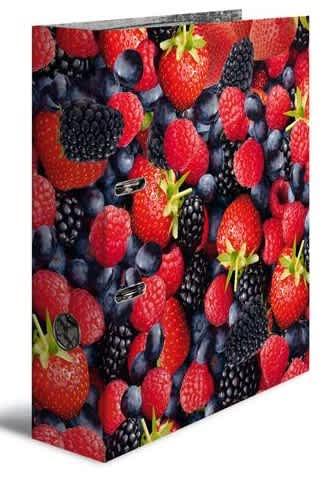 Designový pákový pořadač A4 7cm karton motiv - lesní plody