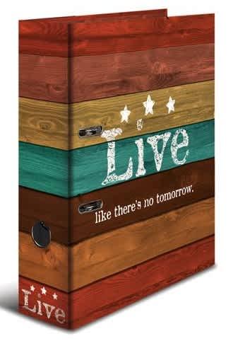 Designový pákový pořadač A4 7cm karton motiv -Woody live
