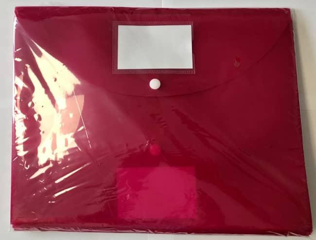 Spisové desky s drukem A4 (325 x 240) 10ks-růžová