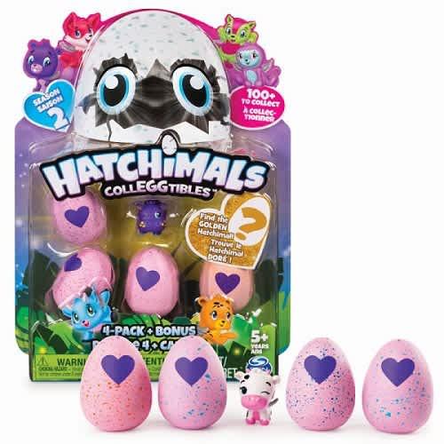 Hatchimals sběrat.zvířátka ve vajíčku-čtyřbalení