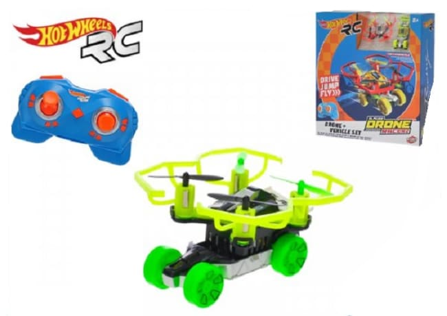 Hot Wheels Quad Racerz auto 7,6cm race a fly 2,4GHz na baterie s USB připojením