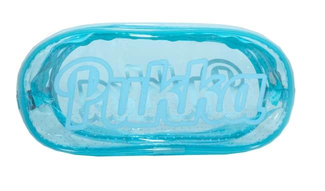 Průhledný obdélníkový penál Pukka Pad, modrý