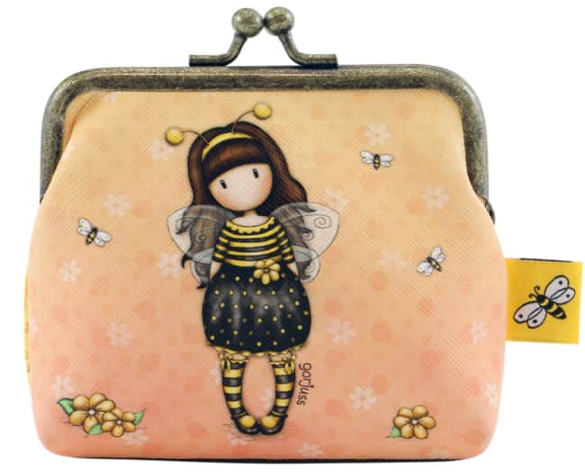 Santoro London peněženka se sponou malá - Bee Loved (Just Bee-Cause)