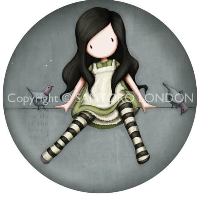 Magnet kulatý Santoro London - On Top Of The World, 5.8cm průměr x 0.5cm