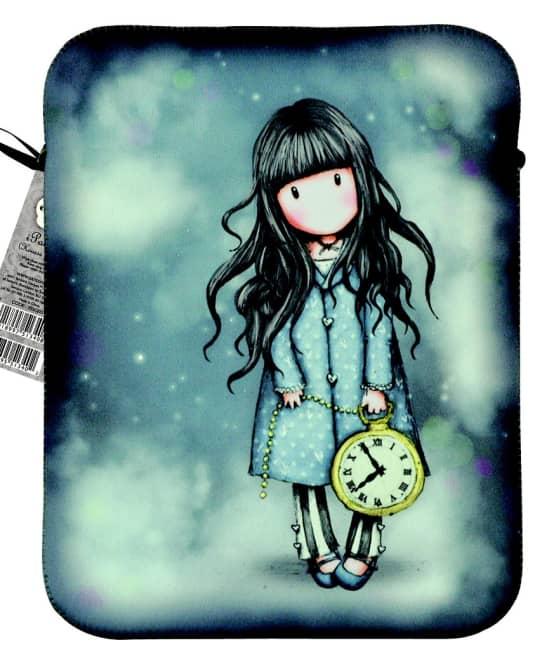 Pouzdro neoprenové na iPad 2 Santoro London – The White Rabbit, 20 x 24 x 1.5 cm
