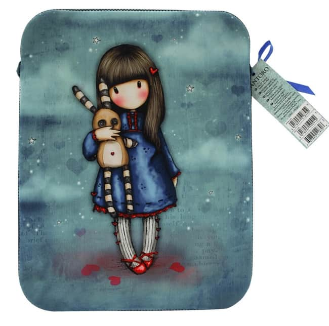 Pouzdro neoprenové na iPad 2 Santoro London – Hush Little Bunny, 20 x 24 x 1.5 cm