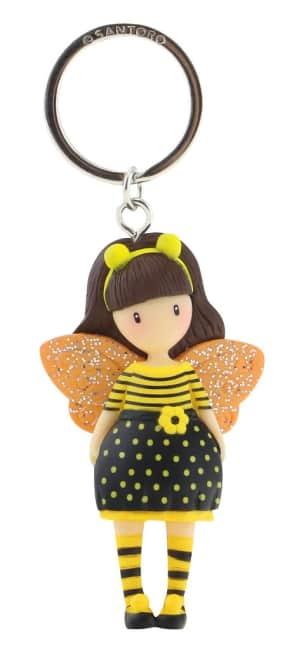 Klíčenka Santoro London - Bee-Loved (Just Bee-Cause), 6.5 x 3 x 2.5cm