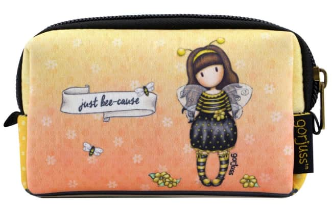 Neoprenové pouzdro na zip Santoro London – Bee-Loved (Just Bee-Cause), 5 x 14 x 9cm