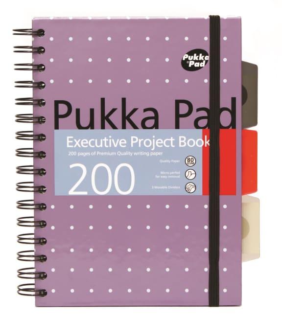 Pukka Pad projektový  blok Metallic Executive A5, papír 80g,100 listů, fialový