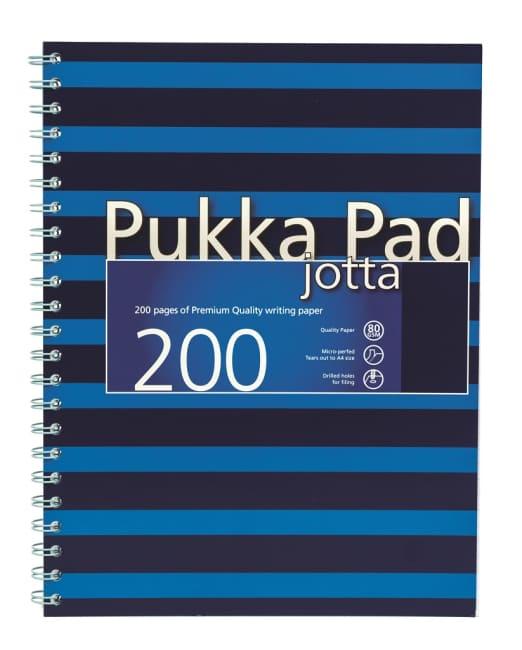 Pukka Pad spirálový  blok Navy Blue Jotta A4, papír 80g,100 listů, modrý