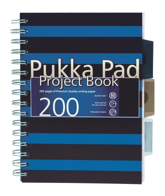 Pukka Pad projektový  blok Navy Blue A5, papír 80g,100 listů, modrý