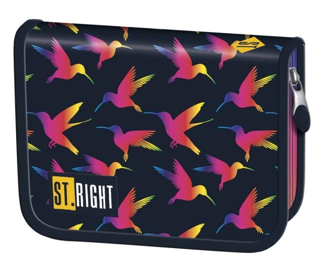 penál jednopatrový St.RIGHT - Rainbow Birds