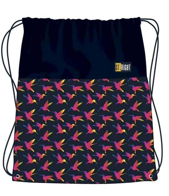 sáček na přezůvky a cvičební úbor St.RIGHT -  Rainbow Birds