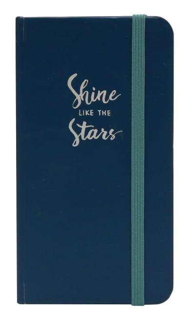Zápisník s elastickým uzávěrem, modrý,60 listů, papír 80g, 75x135mm
