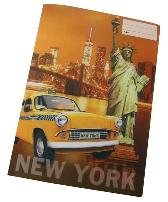sešit 440 s 3D motivem ,A4, 40 listů,bez linek, motiv NEW YORK