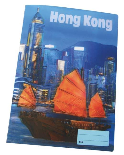 sešit 444 s 3D motivem, A4, 40 listů,linkovaný, motiv Hong Kong