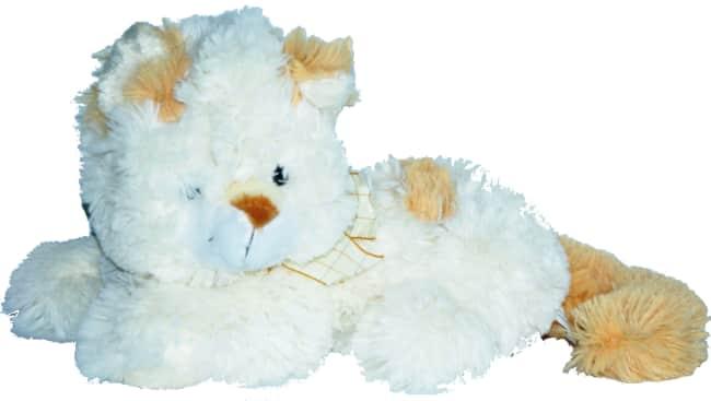 Kočka bílo hnědá, vel. 20 cm