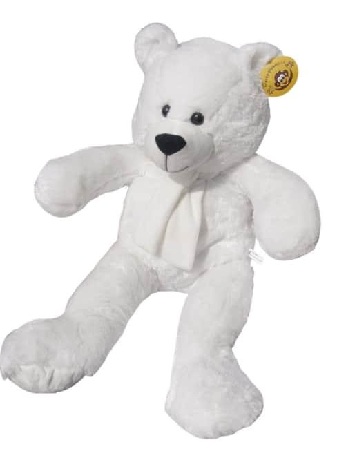 plyšový medvěd  90 cm bílý