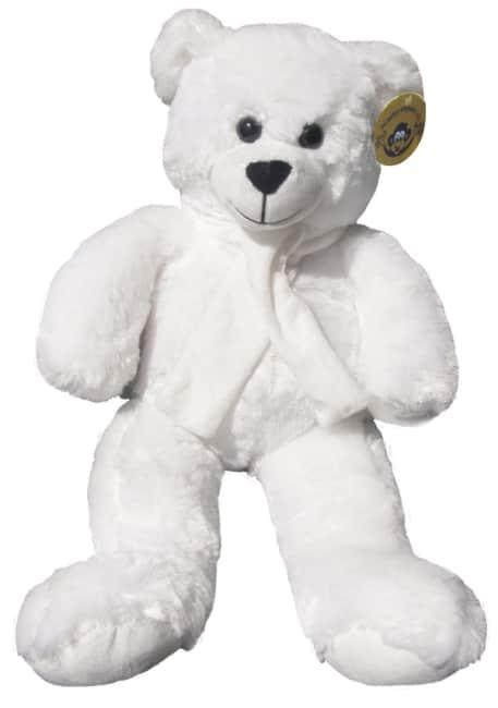 plyšový medvěd 60 cm bílý