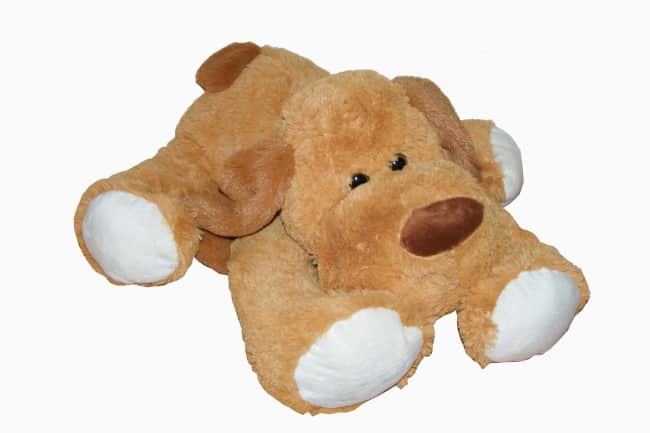 Pes ležící hnědý, vel. 48 cm