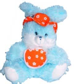Plyšový králík modrý, vel. 18 cm