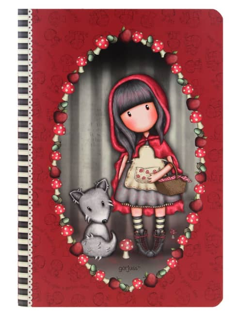 Zápisník A5 linka + čtvereček Santoro - Little Red Riding Hood